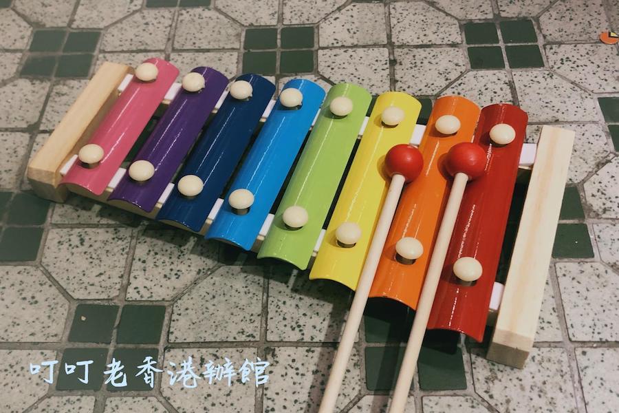 八音符彩虹木琴。(叮叮老香港辦館提供)