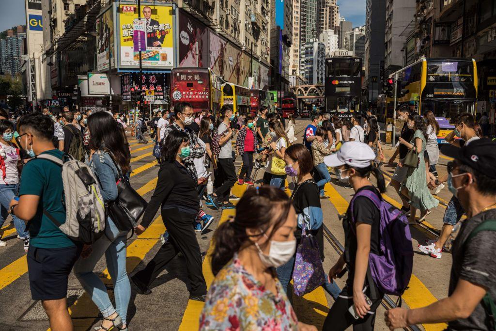 IHS Markit較早前公佈3月份香港私營企業PMI為50.5,反映私營企業商業活動正在擴張。(DALE DE LA REY/AFP via Getty Images)