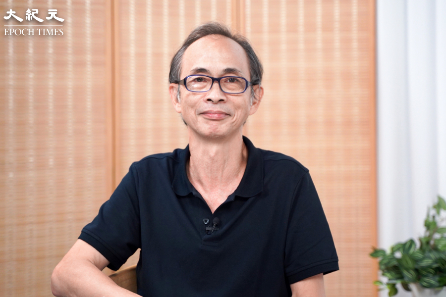 時事評論員及專欄作家王岸然,讚揚大紀元面對中共接連不斷的打壓,在香港20年屹立不倒。 (容家兒/大紀元)