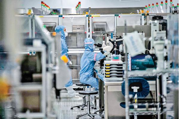 瑞薩電子設於中國北京的一家工廠。(Getty Images)