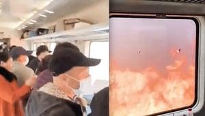 北京至齊齊哈爾列車被路上大火逼停