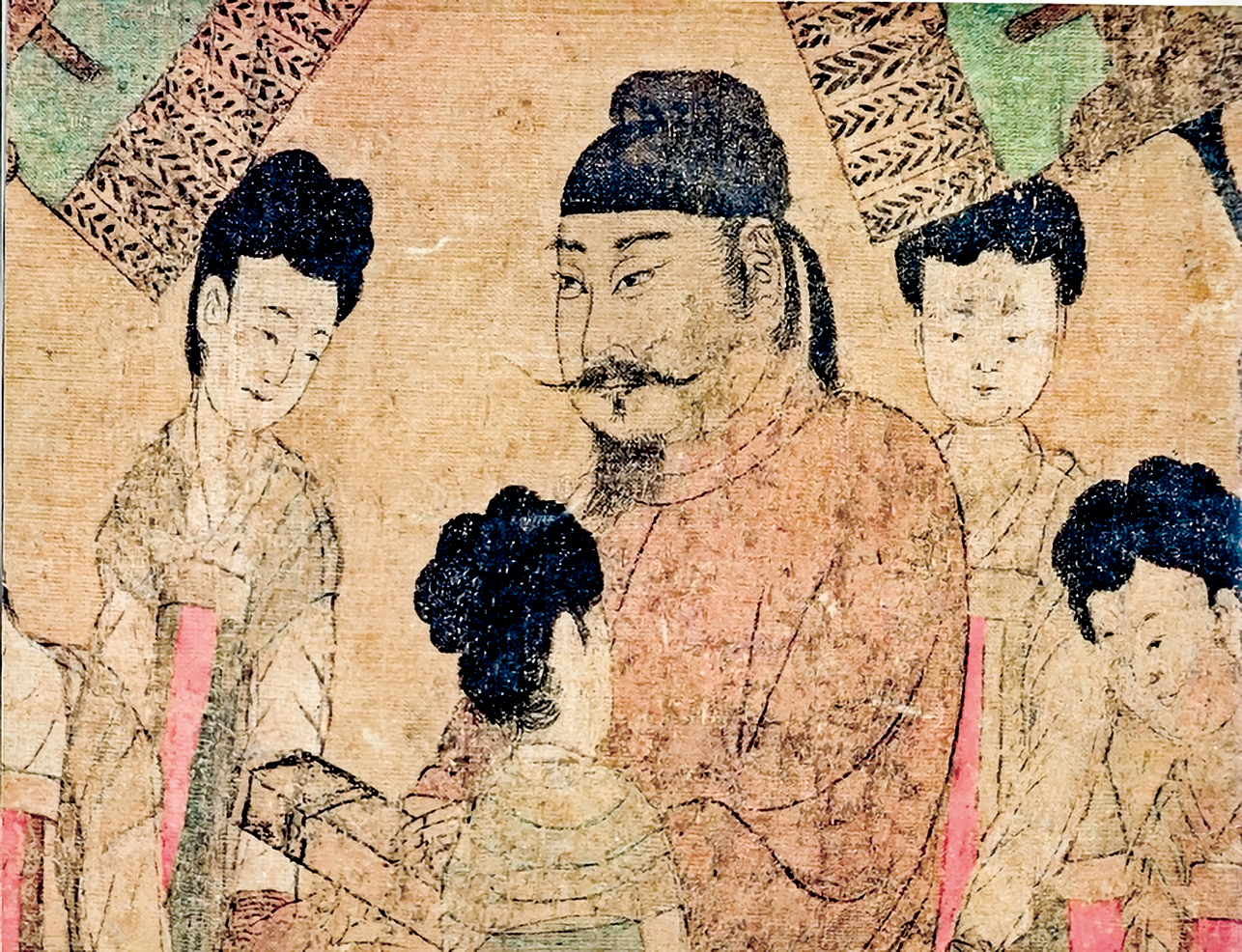 圖為唐閻立本《步輦圖》描繪的唐太宗。(公有領域)