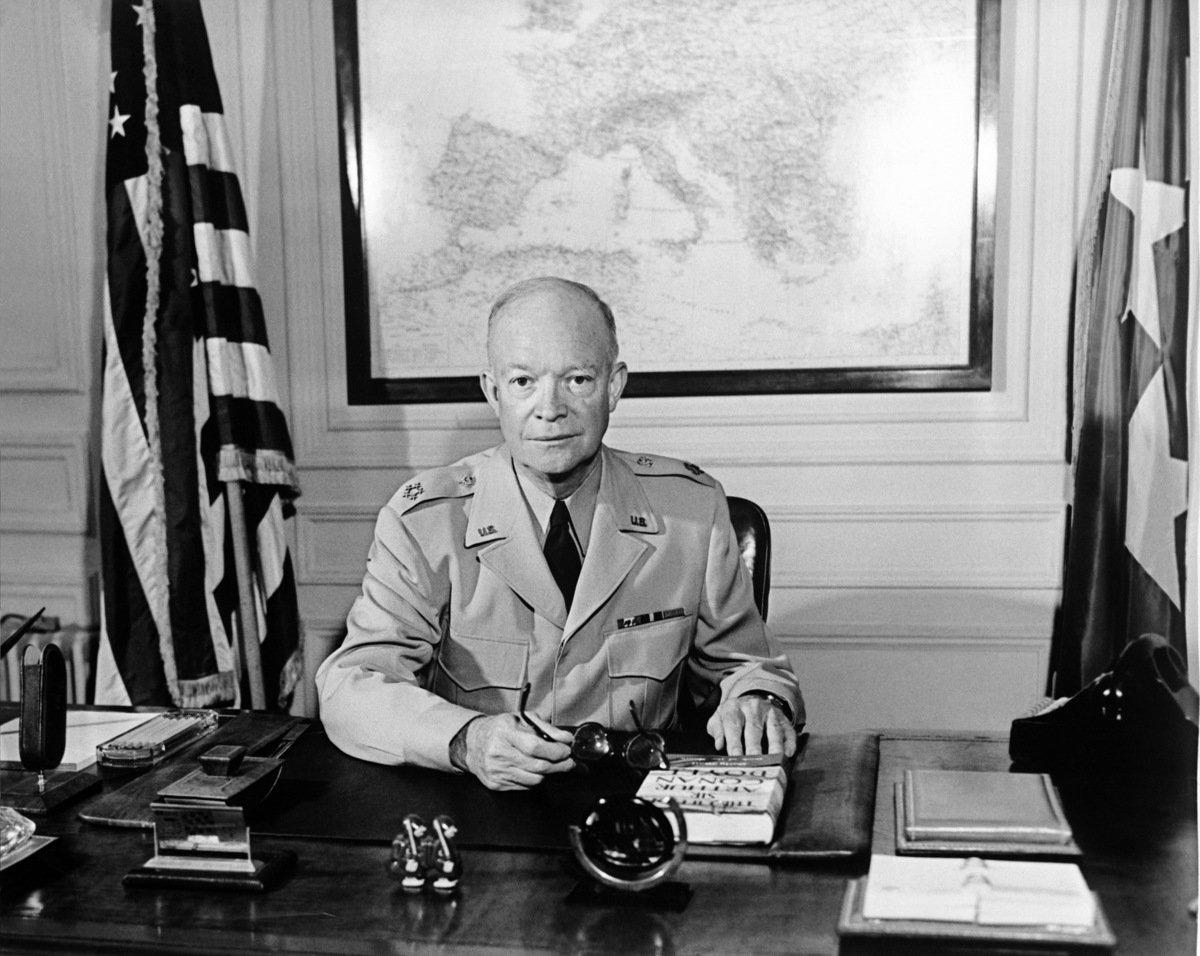 圖為艾森豪威爾(Dwight David Eisenhower)總統。( AFP via Getty Images)