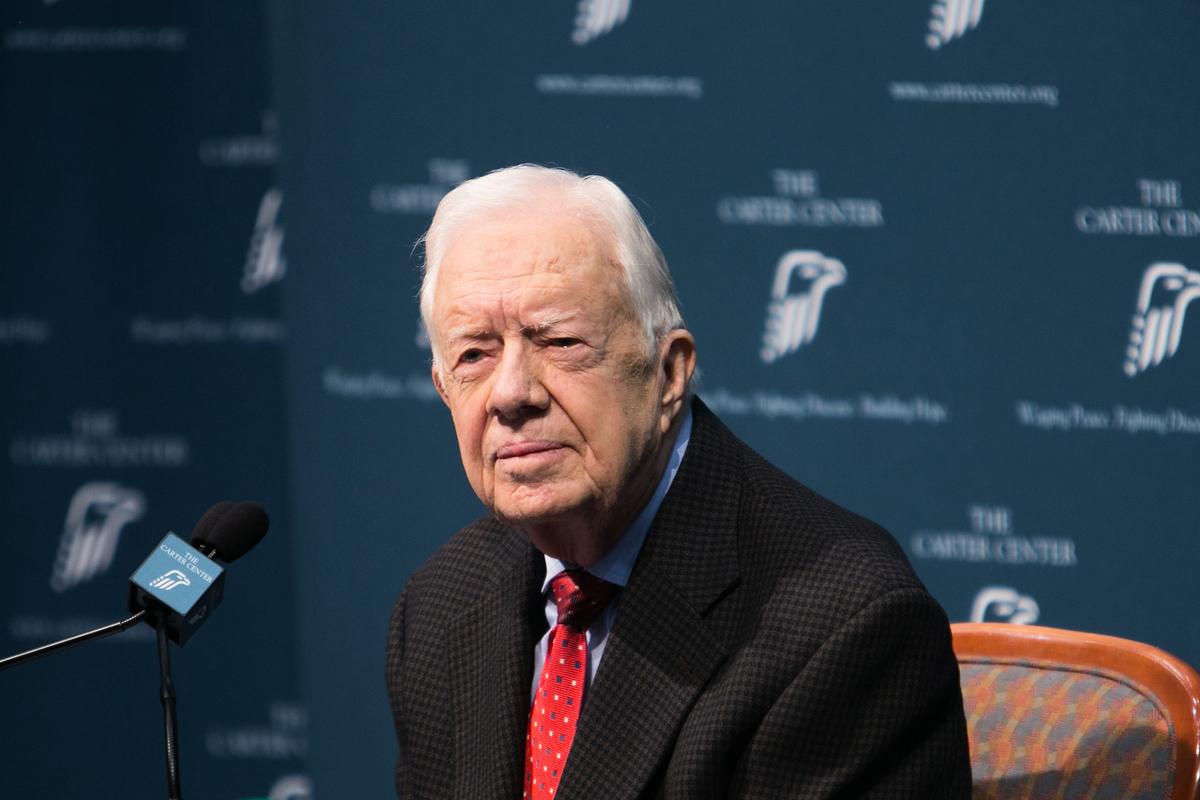 圖為美國前總統卡特(Jimmy Carter)。(Jessica McGowan/Getty Images)