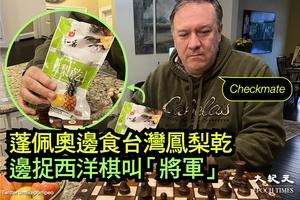 蓬佩奧吃菠蘿乾挺台 外交部證實訪台機率高