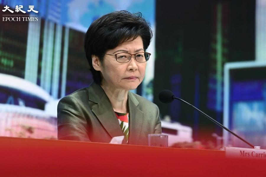 香港民意研究所13日公佈最新調查結果顯示,特首林鄭月娥評分為30.7分,支持率僅20%,反對率為67%。(宋碧龍/大紀元)