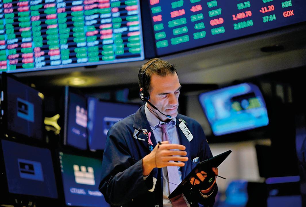 圖為位於紐約華爾街的紐約證券交易所。(JOHANNES EISELE/AFP via Getty Images)