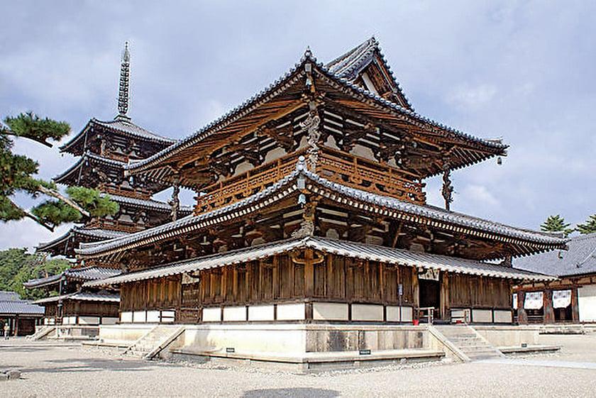 法隆寺金堂(西院伽藍)(公共領域)