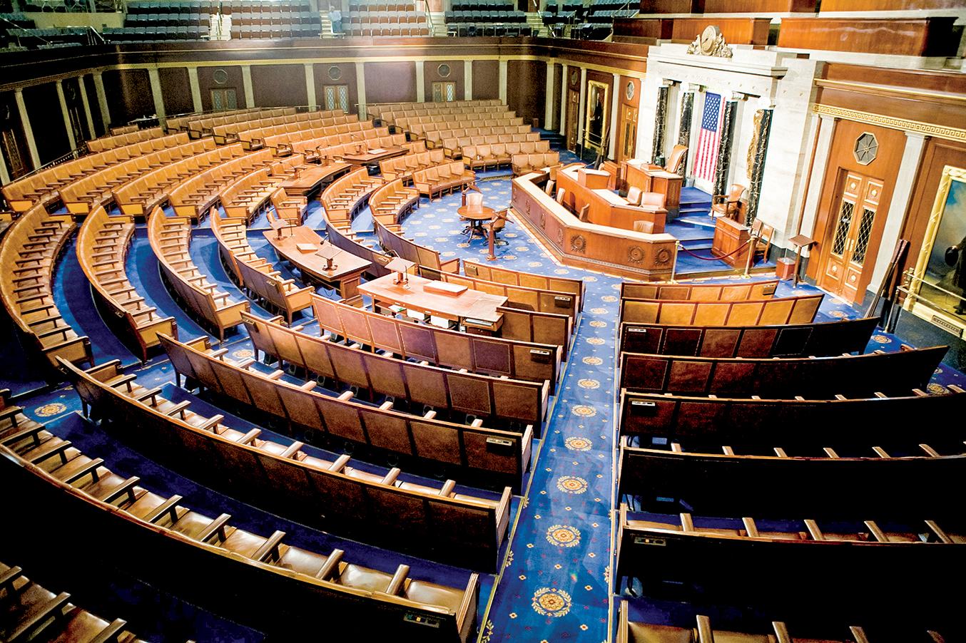 華盛頓DC美國國會眾議院的代表大廳。(Getty Images)