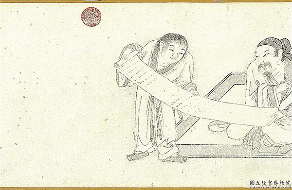 明代王問《煮茶圖卷》局部,展現「茶入詩畫中,詩畫入茶中」的藝境。(台北故宮博物院提供)