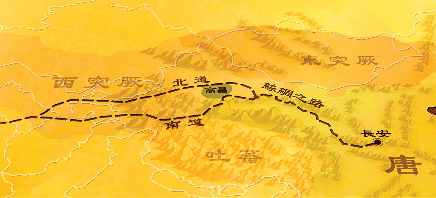 高昌國位於現在的新疆吐魯番地區,是絲綢之路上的必經之處。