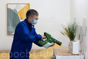過渡房屋「南昌220」噴灑殺菌塗層