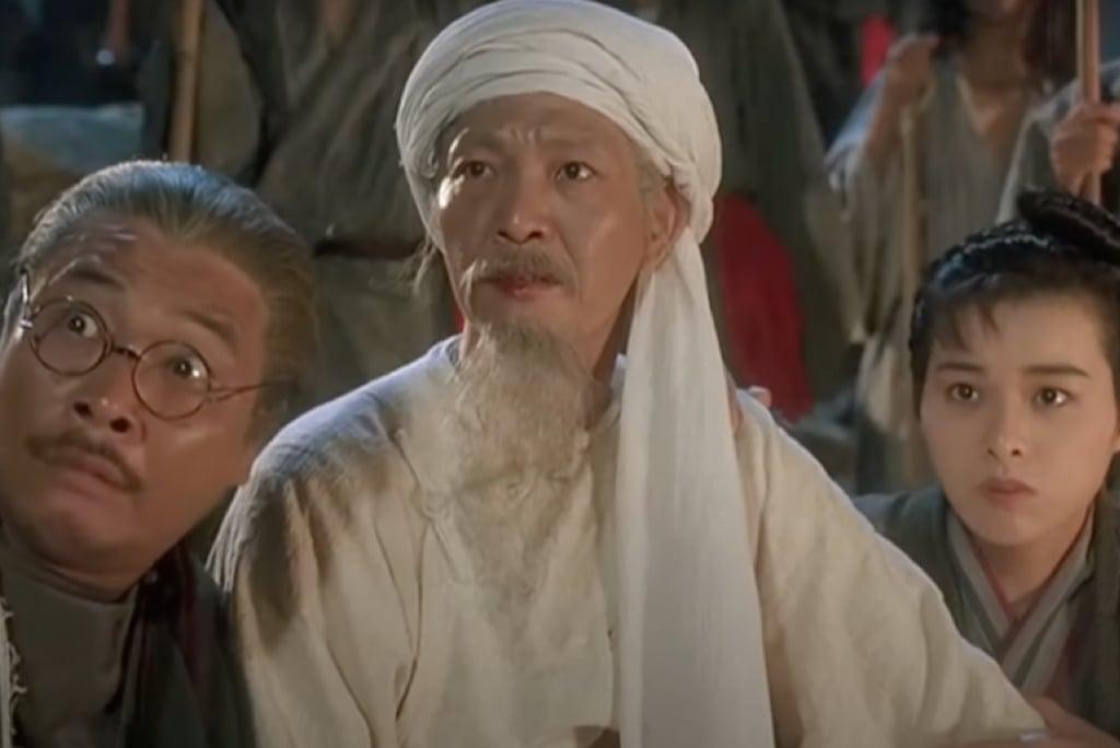 香港資深演員、導演王鍾今(18日)傳出死訊,圖為王鍾(中)參演電影《武狀元蘇乞兒》。(翻攝自YouTube)