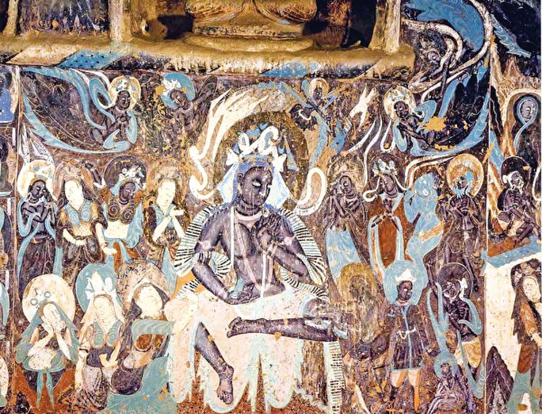 圖為敦煌莫高窟的北魏第254窟《屍毗王本生故事》壁畫。(公有領域)