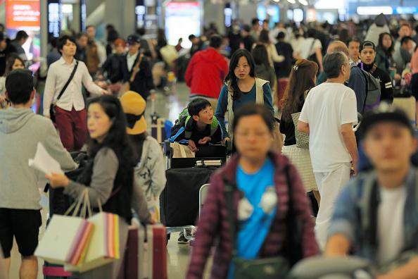 日本關西國際機場兩名女性地勤工作人員被診斷出麻疹,其餘37名工作人員也表現出麻疹的症狀,被認為2次感染的可能性極高。圖為日本關西國際機場。(Getty Images)