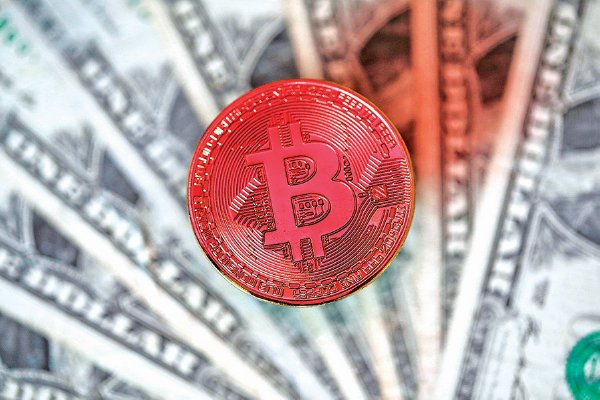 比特幣模擬圖。(Getty Images)