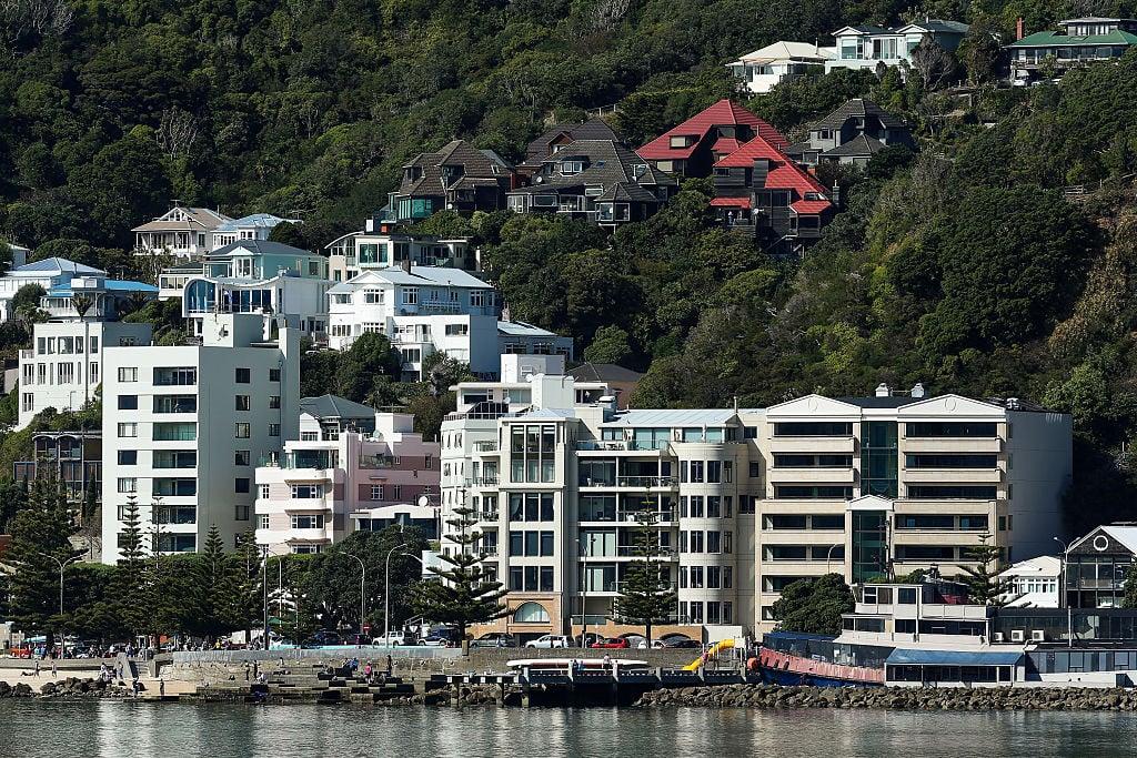 紐西蘭REINZ近日公佈3月份全國樓價按月急升5.9%,按年飆高24.3%。圖為首都威靈頓,3月均價錄得106萬紐元,同比漲30.1%。(Hagen Hopkins/Getty Images)