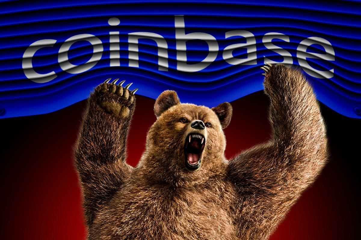 Coinbase套現3億,比特幣熊市來了?(大紀元製圖)