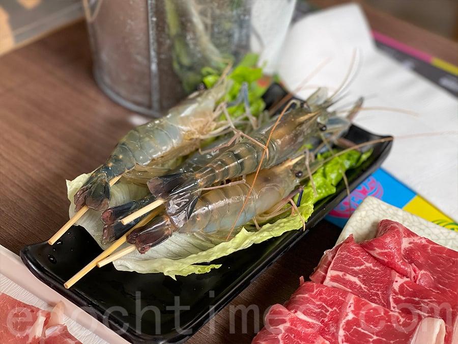 有新鮮基圍蝦,值得品嚐。(Siu Shan提供)
