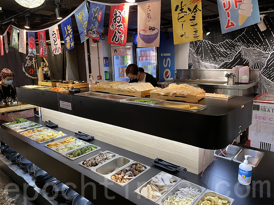 自取區域有很多不同種類的蔬菜及丸類。(Siu Shan提供)