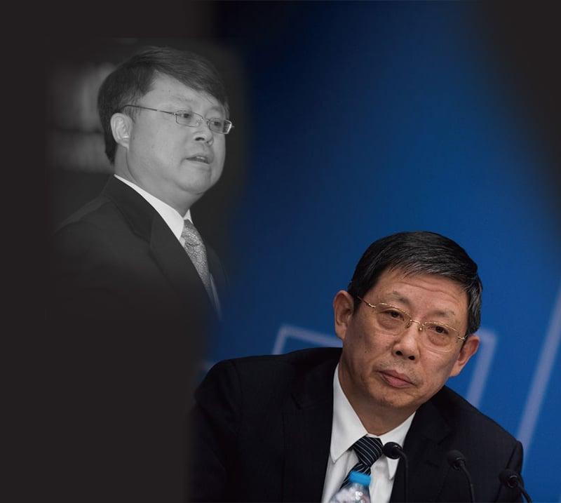 4月12日,與江澤民之子江綿恆(左)關係密切的原上海市長楊雄(右)猝死。(大紀元合成圖)