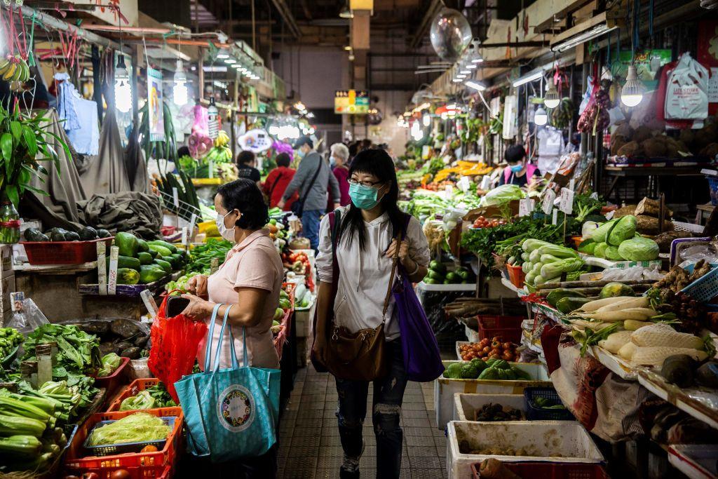 香港今(4月23日)公佈消費者物價指數,3月按年錄得通脹0.5%。(ISAAC LAWRENCE/AFP via Getty Images)