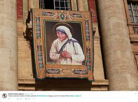 德蘭修女封聖儀式今舉行 逾10萬信徒齊聚梵蒂岡