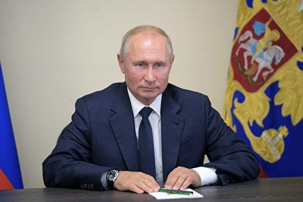4月21日,俄總統普京(Vladimir Putin)發表年度國情咨文時表示,將持續升級核武器的戰略力量。圖為俄羅斯總統普京。(ALEXEY DRUZHININSPUTNIKAFP via Getty Images)