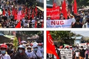 緬甸民眾不畏強暴 抗議仍在持續