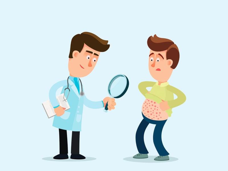 中年男子上皮性囊腫 延遲就醫造成糜爛