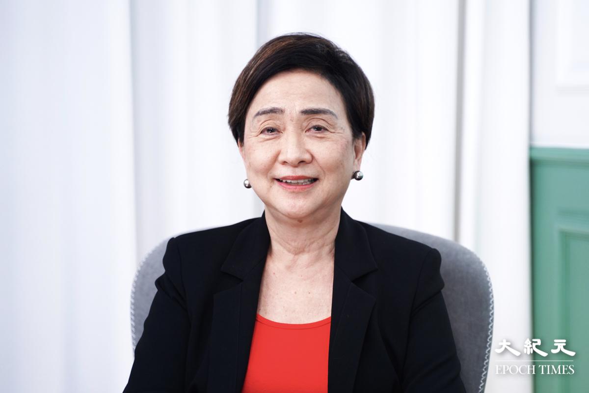民主黨前主席劉慧卿希望法輪功或者其他人繼續以「和理非」方式爭取自由。(嘉宜/大紀元)