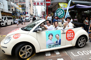 【立會選舉-超區】鄺俊宇巡遊 市民關心選情