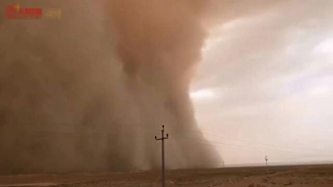 沙塵暴再襲中國 「吞噬」城市畫面曝光