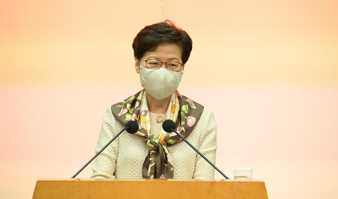 特首林鄭月娥昨早出席行會前見記者,表示會認真處理檢測承辦商華大基因多次出錯的問題。