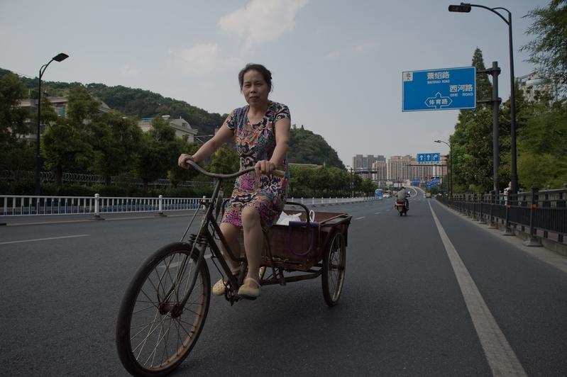 2016年9月2日,平日裏忙忙碌碌、車水馬龍的浙江省省會杭州,儼然成了一座「空城」。(NICOLAS ASFOURI/AFP/Getty Images)
