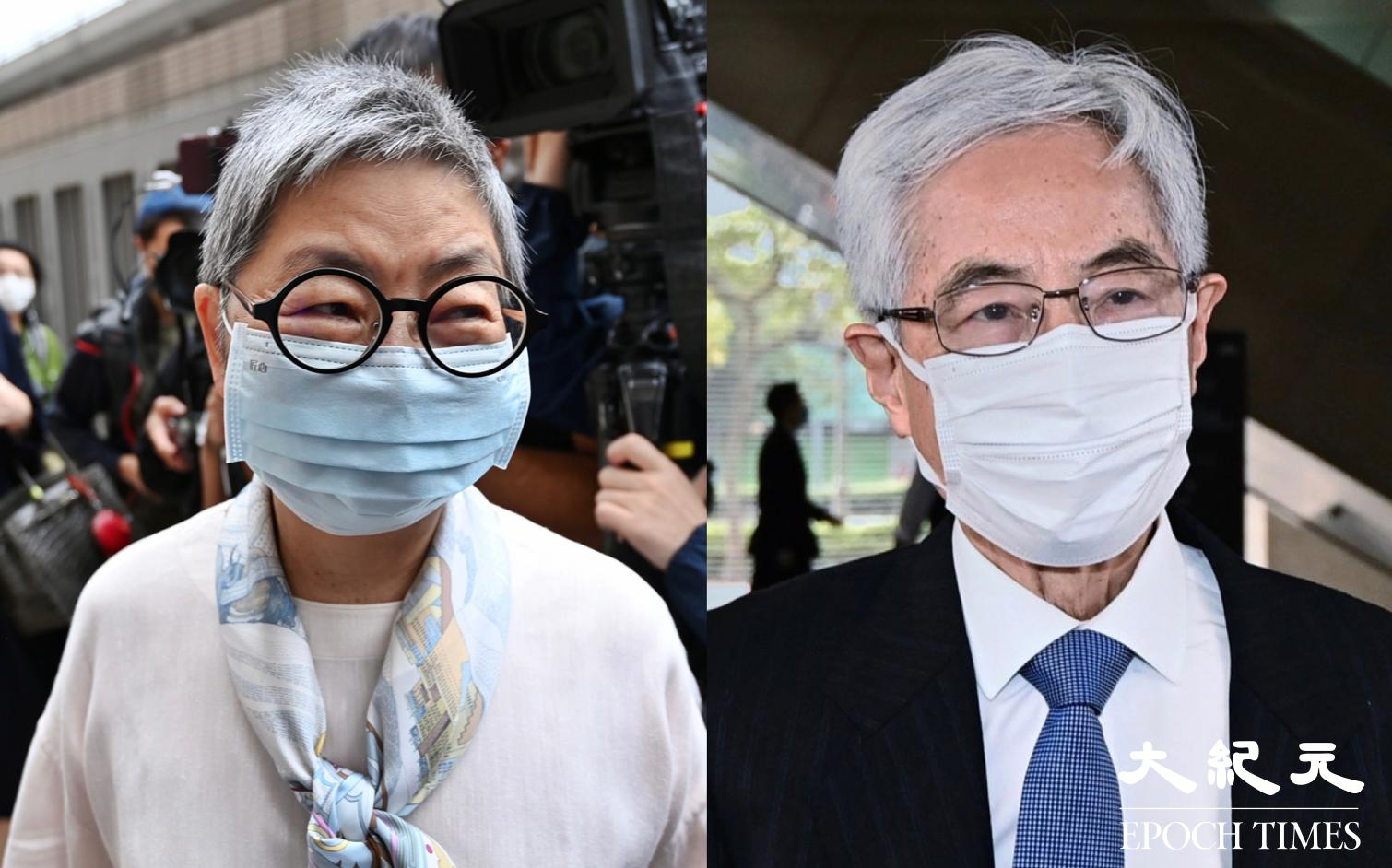 有報道指,資深大律師李柱銘(右)、吳靄儀(左)將受到香港大律師公會調查。(大紀元製圖)