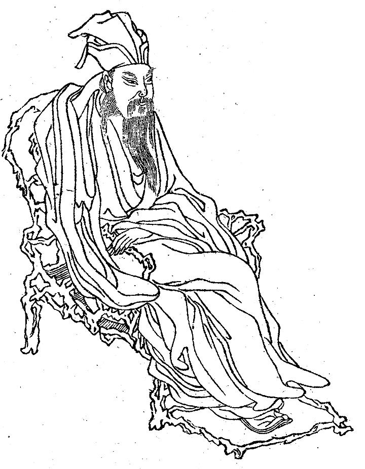 蘇軾像,載於《晩笑堂竹莊畫傳》。(公有領域)