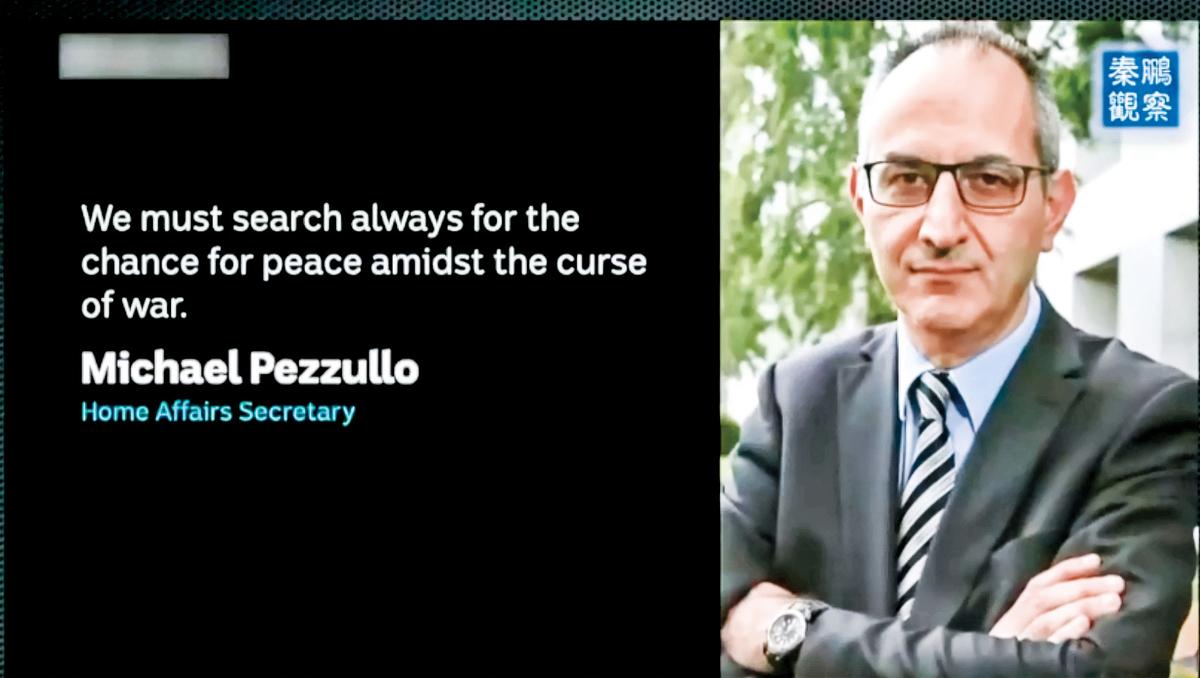 日前,澳洲內政部常務副部長佩祖羅(Mike Pezzullo)說,全球的「戰鼓」正在敲響,台海爆發戰爭的可能性正在升高。(影片截圖)
