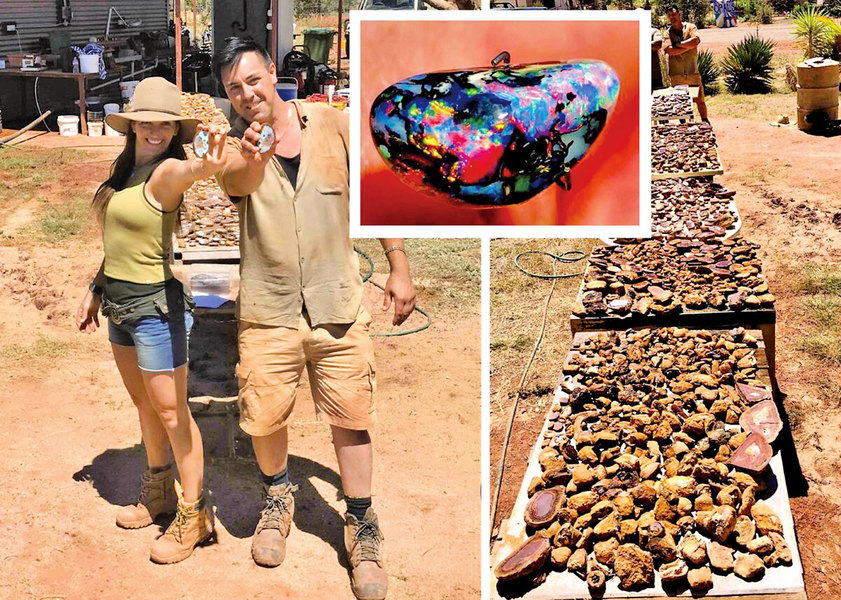 澳洲兄妹挖到蛋白石寶藏 價值120萬澳元