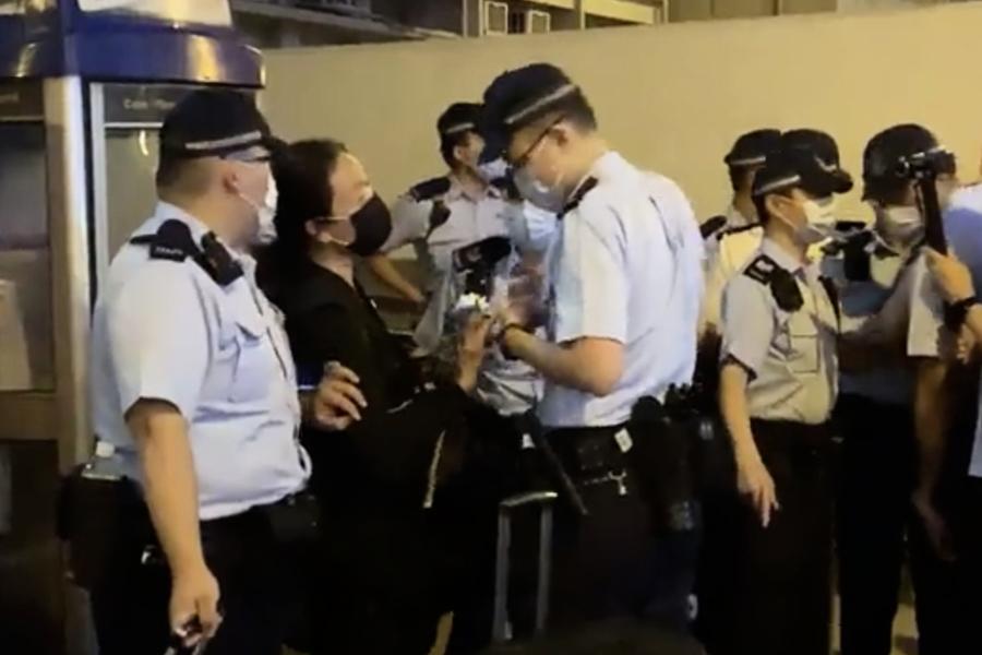【快訊】廚房佬4月30日晚在太子站手持白花被拘捕