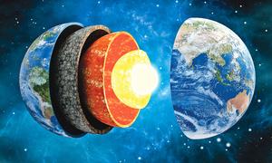 地球磁場或是在地幔層產生