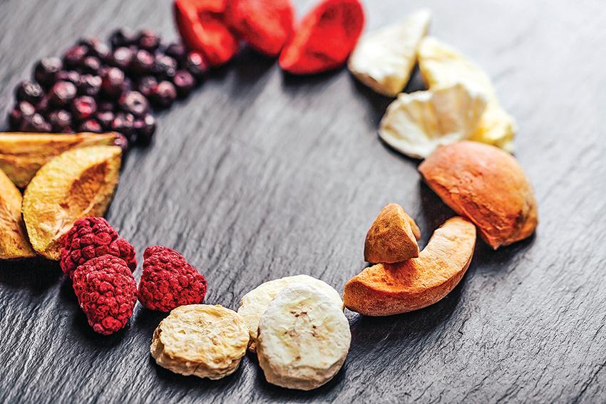 「冷凍乾燥技術」製作的果乾,保留了水果原本的營養和風味。