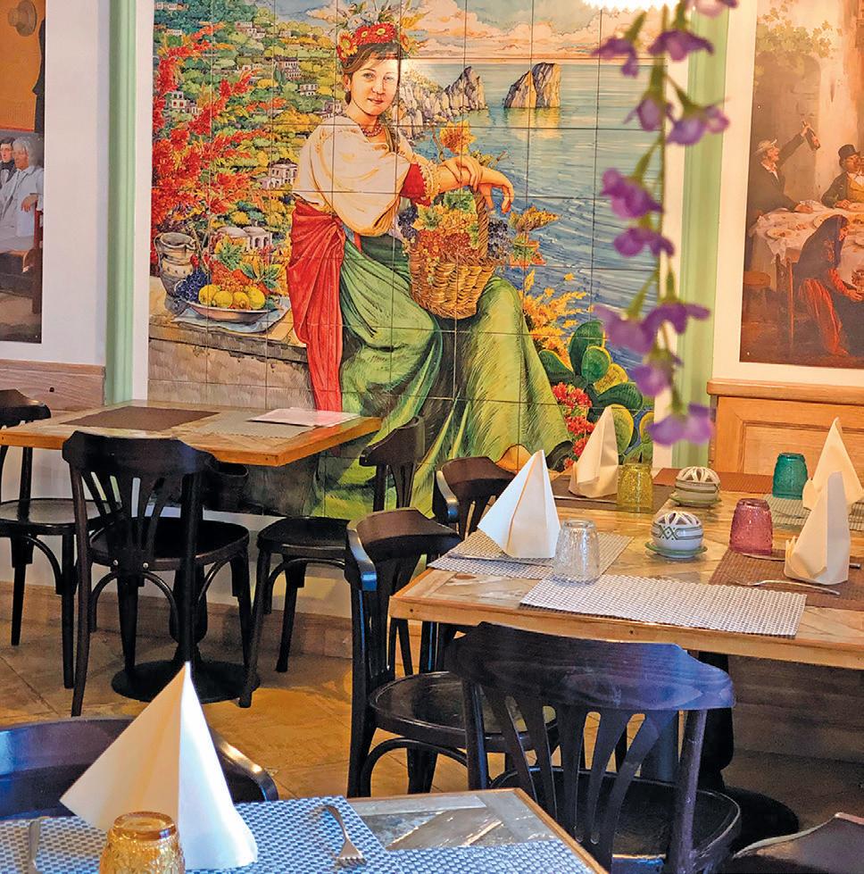 餐館內一角。