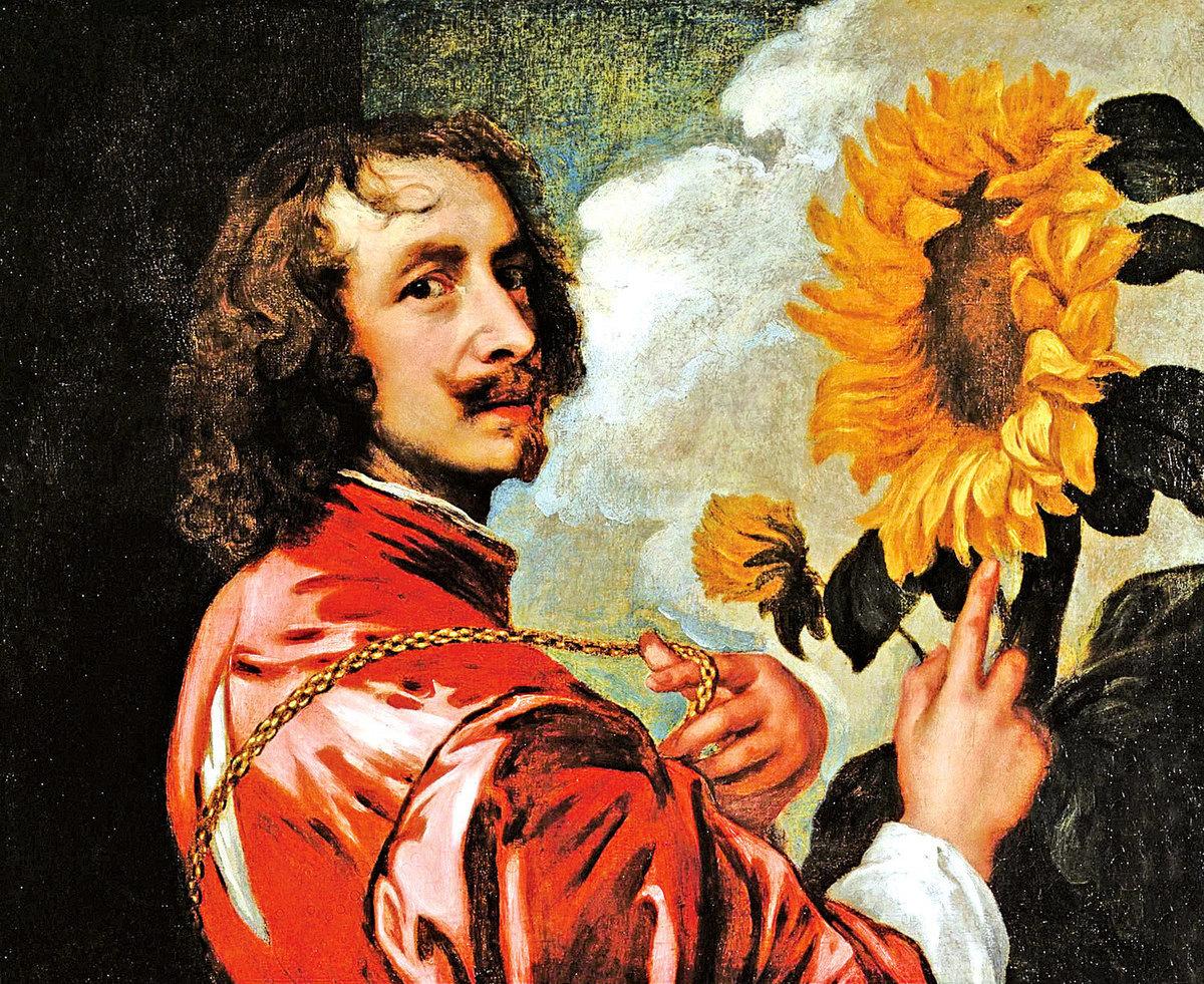 安東尼‧凡‧戴克的自畫像,創作時間為1632 - 1633年。(維基百科)
