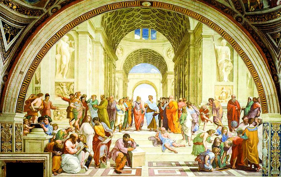 從一幅草圖走入哲學殿堂(三)──米蘭拉斐爾《雅典學院》素描稿