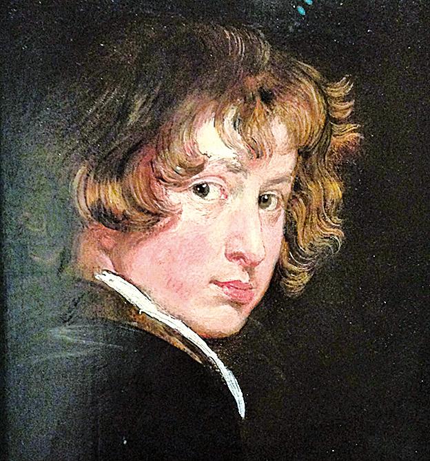 《自畫像》,約作於1613~1615年,木板油畫,維也納藝術專科學院博物館藏。(Kati Vereshaka/Epoch Times)