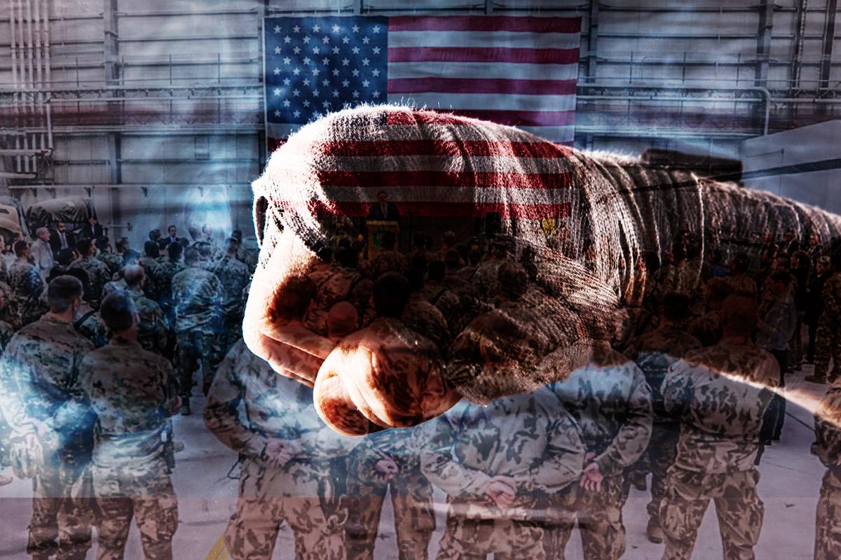 美軍撤出阿富汗,每年減少支出數百億美元,聯合亞洲同盟者,將戰略重點轉向印太,直指中共。(大紀元製圖)