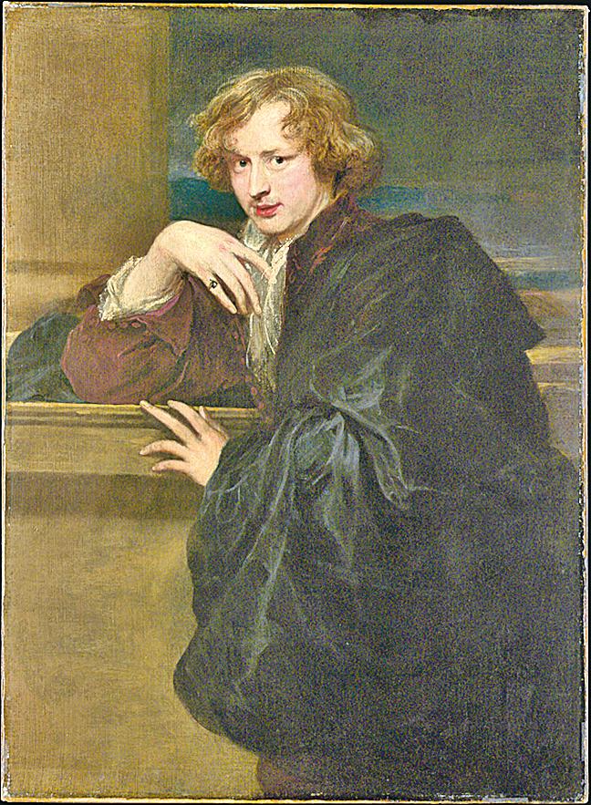 《自畫像》,約作於1620~1621年,布面油畫,紐約大都會藝術博物館藏。(Courtesy of The Metropolitan Museum of Art)