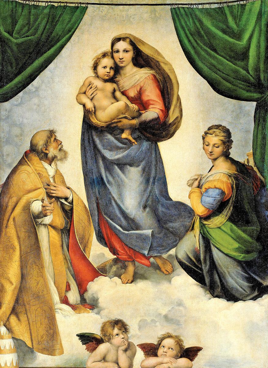 西斯廷聖母像。 (維基百科公有領域)