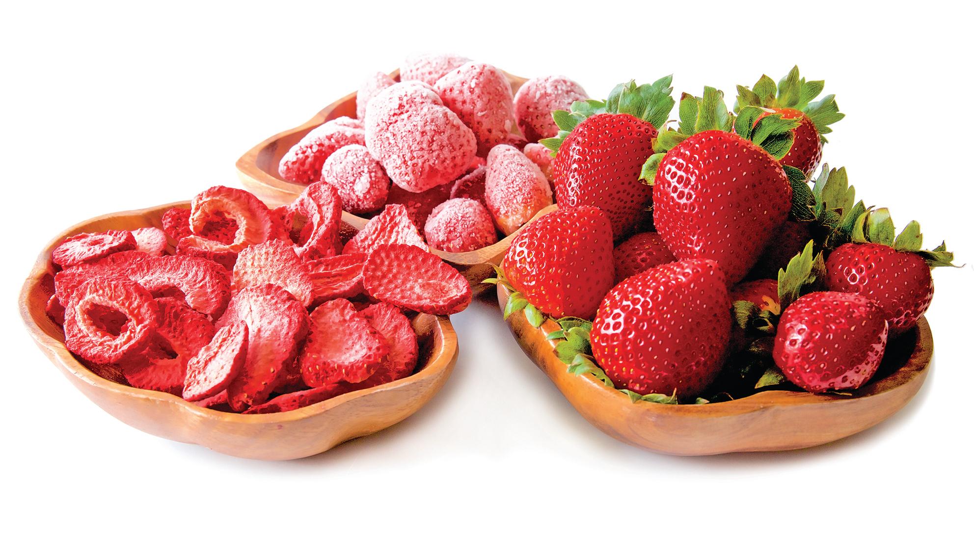 凍乾水果的外皮和鮮度都能保持得很好。